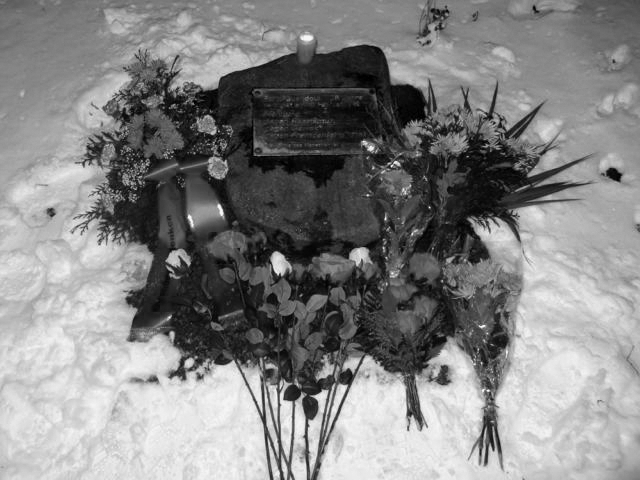 Guben, Gedenkstein für Farid Guendoul, 13.2.2013