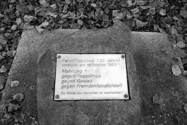 Guben, Gedenkstein für Farid Guendoul