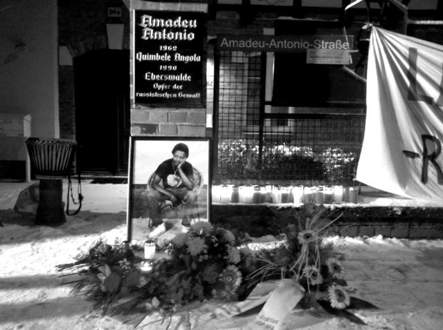 Eberswalde, Erinnerung an die Ermordung Amadeu Antonios, 6.12.2012