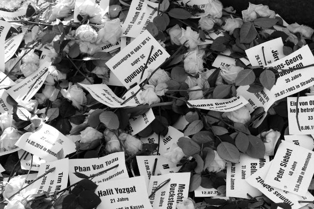 Gedenken an die Opfer rechter Gewalt, Dresden 6. April 2013